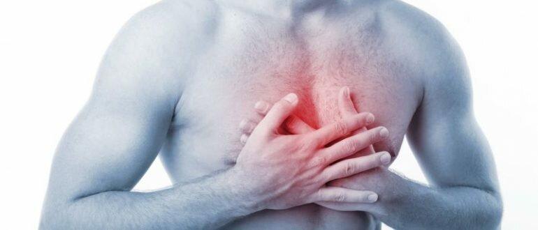 Боль за грудиной в центре в области пищевода