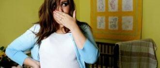 У беременной девушки изжога